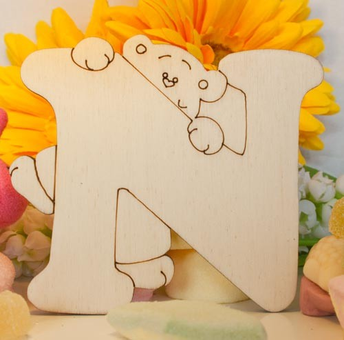 Alfabeto Teddy Bear  - N