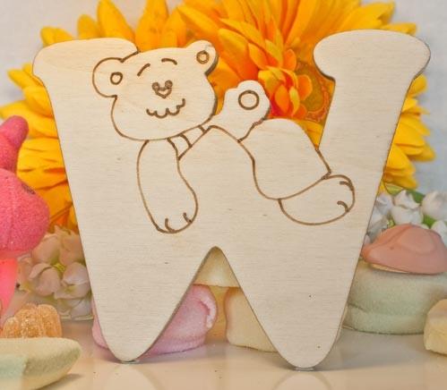 Alfabeto Teddy Bear  - W