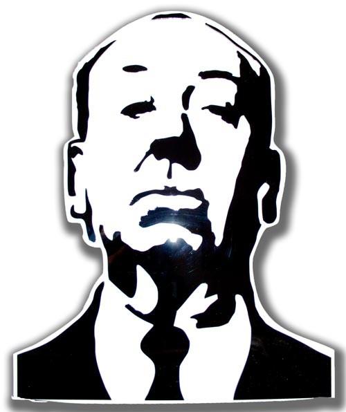 ALFRED HITCHCOCK  ritratto in bianco e nero