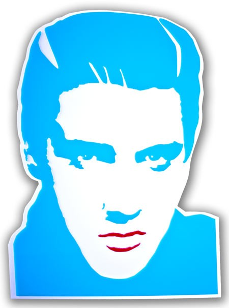 Elvis presley ritratto in blu
