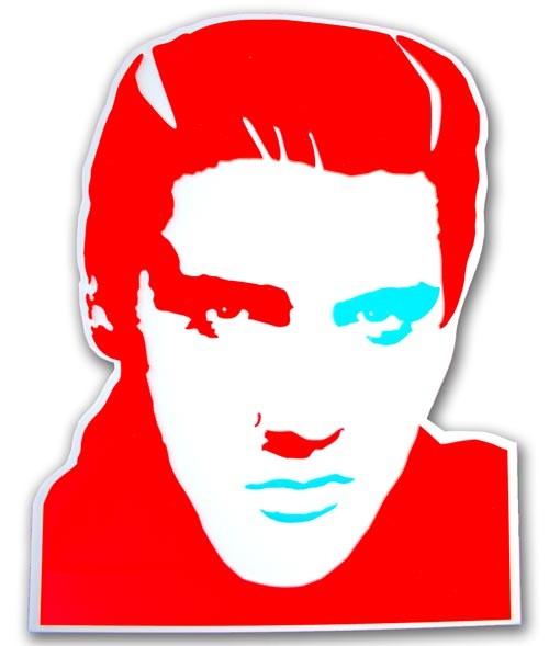 ELVIS PRESLEY ritratto in rosso