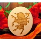 chimera rampante su ovale in legno